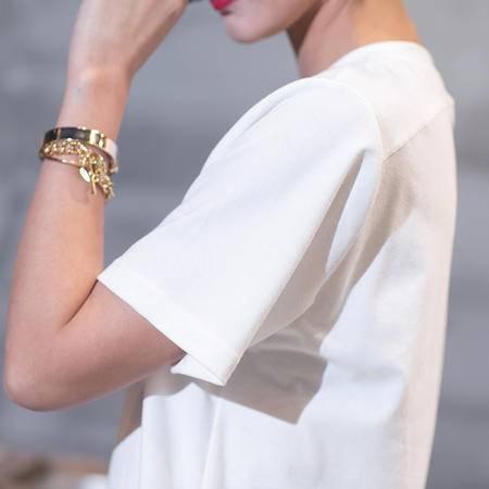 MSSEFN夏装新款韩版修身 情侣短袖T恤长版短袖T恤汗衫男女潮