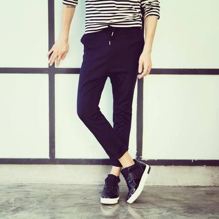 MSSEFN新款 二色入 简洁时尚抽绳设计 休闲裤