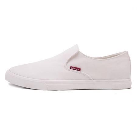 MSSEFN春夏韩国明星乐福鞋懒人鞋学生鞋一脚套帆布鞋单鞋男士男鞋款D504