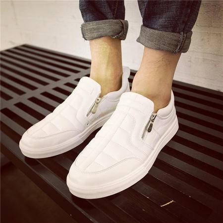 MSSEFN板鞋平底单鞋男乐福鞋系带男士小白鞋潮鞋