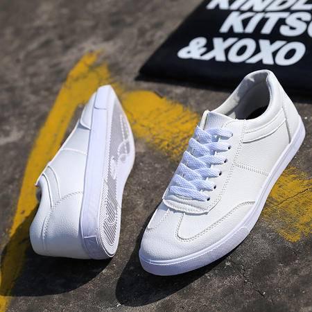MSSEFN板鞋平底单鞋男乐福鞋系带男士小白鞋