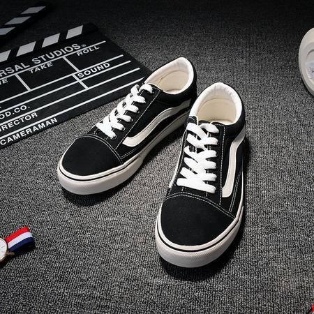 MSSEFN夏韩版东大门简约纯色设计帆布鞋单鞋开车鞋百搭男低帮滑板鞋D505