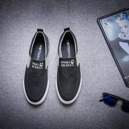 MSSEFN日系复古学生休闲鞋 帆布鞋 单鞋套鞋懒人鞋韩版男鞋