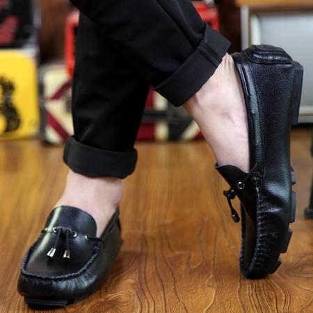 MSSEFN新款豆豆鞋男士英伦真皮透气时尚潮流豆豆鞋潮休闲男鞋懒人鞋