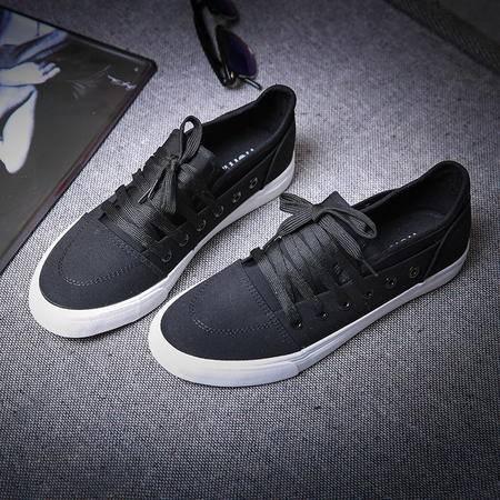 MSSEFN日系复古学生休闲鞋 帆布鞋 板鞋 套鞋懒人鞋韩版男鞋