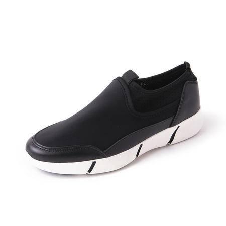 MSSEFN夏季新款韩版男士迷彩布鞋套脚低帮鞋板鞋时尚潮男