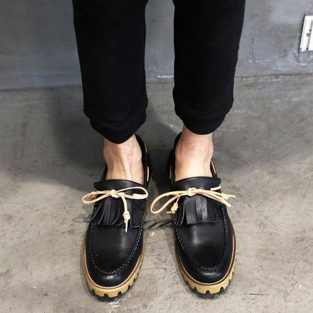 MSSEFN韩系复古做旧帆船鞋流苏男鞋