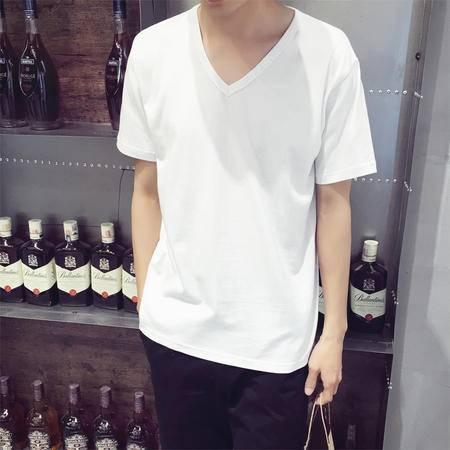 MSSEFN夏韩版男短袖t恤白色打底衫男装圆领体恤潮男t桖