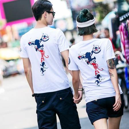 MSSEFN夏装新款猴年原创设计百搭情侣短袖