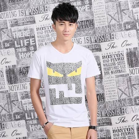 MSSEFN夏季新款男装 韩版纯棉舒适男士 短袖T恤