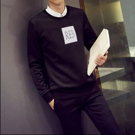 MSSEFN新款韩版男士圆领套头青少年休闲兽太空棉卫衣潮男装