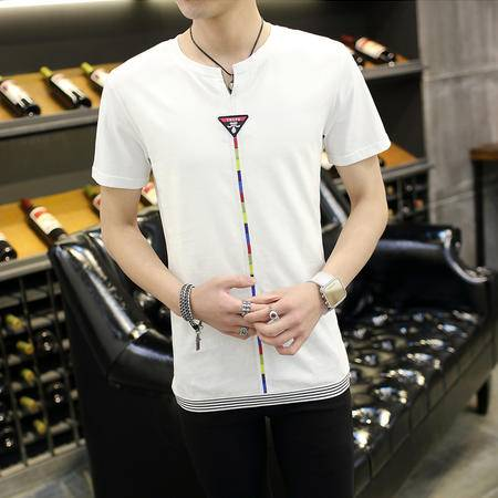 MSSEFN新款男装潮流麻料短袖T恤 高质量 新款
