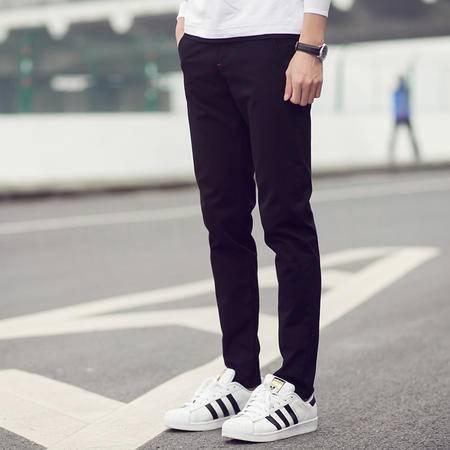 MSSEFN孔雀蓝厂家日系直筒裤潮流男装韩版修身裤子