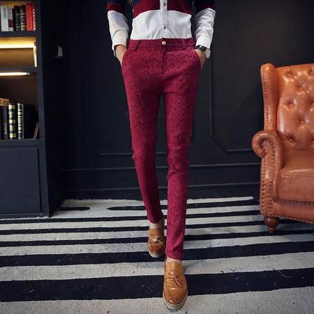 MSSEFN春季男士休闲裤韩版修身紧身裤男装潮弹力小脚裤长裤