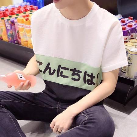MSSEFN夏季新品日系男装青少年圆领蝙蝠袖休闲短袖T恤潮