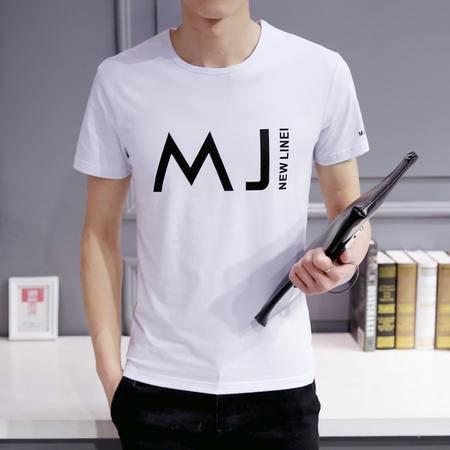 MSSEFN夏装 新 款男装半袖T恤男上衣潮韩版男士短袖t恤男打底衫