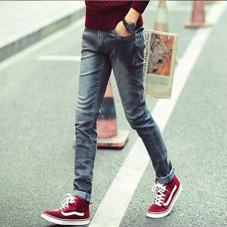 MSSEFN春夏新款时尚牛仔裤韩版潮修身小脚裤男装长裤