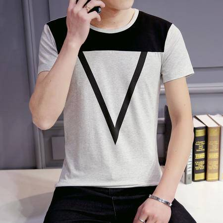 MSSEFN夏季新款韩 版男短袖T 恤男上衣男装 纯棉半袖t 恤
