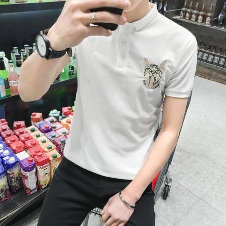 MSSEFN夏季新款男装 韩版修身男士POLO衫潮T 潮男T恤打底衫