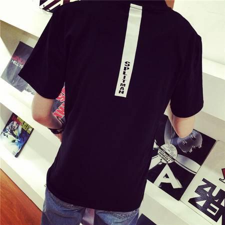 MSSEFN独家韩国东大门背后字母印花 简约舒适短袖TEE男装