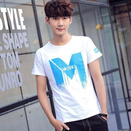 MSSEFN夏季新款男装 韩版简洁修身男士短袖T恤