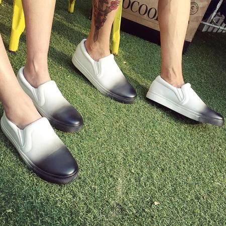 MSSEFN乐福鞋一脚蹬懒人鞋情侣板鞋平底休闲鞋圆头单鞋潮 908-p100
