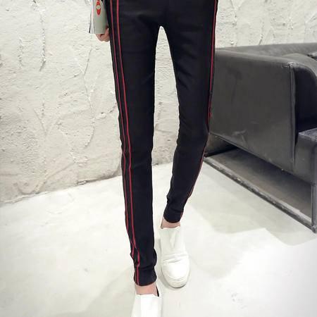 MSSEFN夏季2016新款男士修身条纹休闲裤长裤