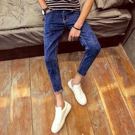 MSSEFN新款男士修身小脚牛仔裤紧身裤铅笔裤室内图