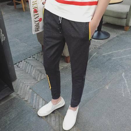 MSSEFN春季运动裤长裤束脚裤男士修身大码小脚裤休闲裤男