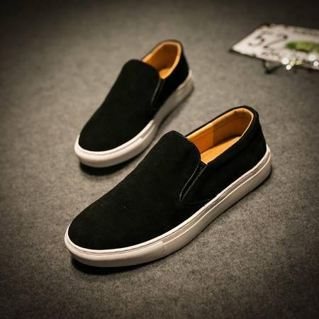 MSSEFN男休闲鞋韩版日常休闲男鞋英伦鞋青年圆头系带板鞋