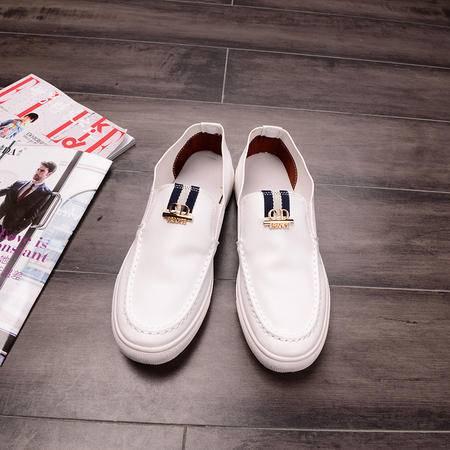 MSSEFN春季新款韩版豆豆鞋男士英伦春季休闲鞋驾车鞋男套脚潮鞋