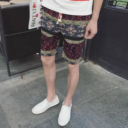 MSSEFN大码印花男士短裤 2016夏季男休闲裤 韩版修身沙滩
