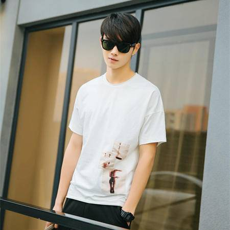 MSSEFN夏季新款韩版男士宽松短袖T恤