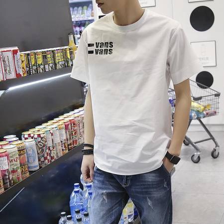 MSSEFN夏装新款短袖T恤男圆领印花日系韩版修身t恤夏季
