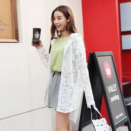 MSSEFN夏季新款个性镂空设计韩版女士蕾丝外套