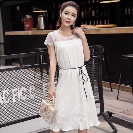 MSSEFN夏季新款韩版学院小香风短袖修身连衣裙女