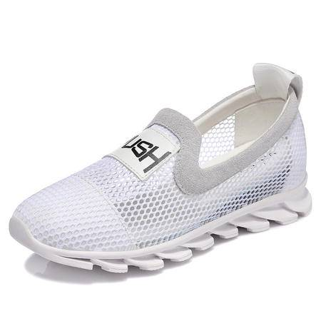 MSSEFN 专柜正品 网布平底字母女鞋子