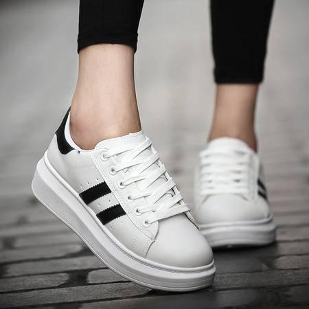 MSSEFN新款男士鞋情侣小白鞋男女平底鞋橡胶底运动鞋女