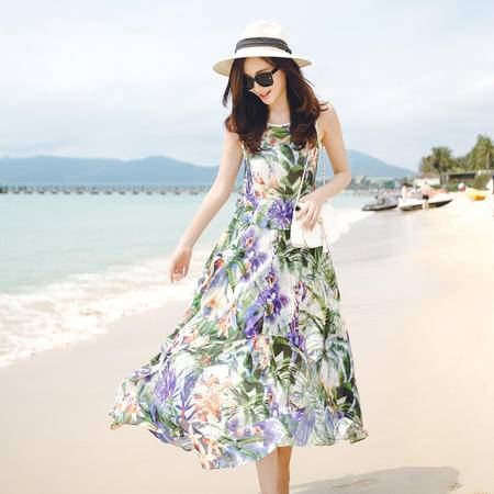 MSSEFN夏装新款印花连衣裙