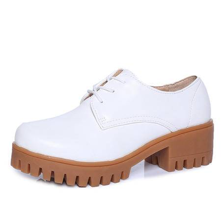 MSSEFN 休闲 百搭 平跟 小皮鞋 女鞋  跑量款