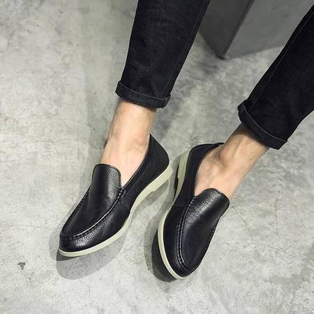 MSSEFN三色舒适款休闲皮鞋套脚开车鞋