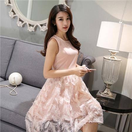 MSSEFN时尚新款女装夏季韩版小香风背心裙无袖连衣裙