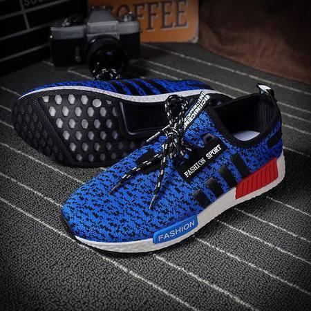 MSSEFN蓝男款2016最新流行运动鞋情侣鞋跑步鞋男女休闲裤平底鞋