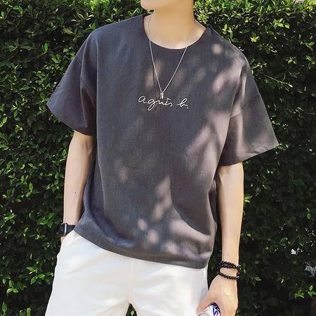 MSSEFN夏装新款男士休闲字母T恤短袖体恤
