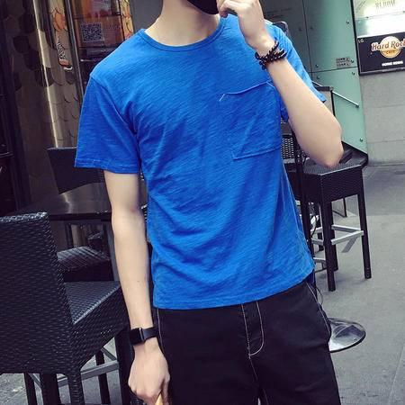 MSSEFN夏季韩版新款男士口袋T恤