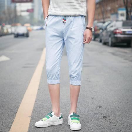 MSSEFN男裤夏季修身运动裤潮7分中裤沙滩裤休闲短裤男七分