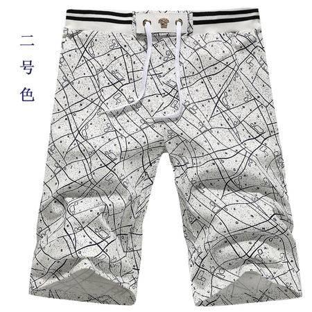 MSSEFN夏季民族风短裤沙滩裤男士纯棉撞色休闲宽松五分裤