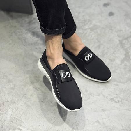 MSSEFN夏季弹力布休闲运动鞋真皮皮鞋x7