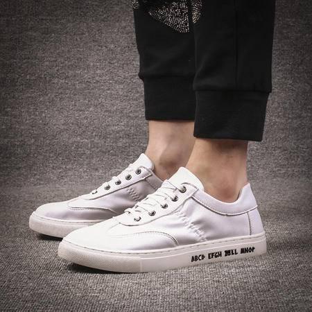 MSSEFN钱塘夏季时尚潮流男士系带小白鞋韩版潮流休闲鞋