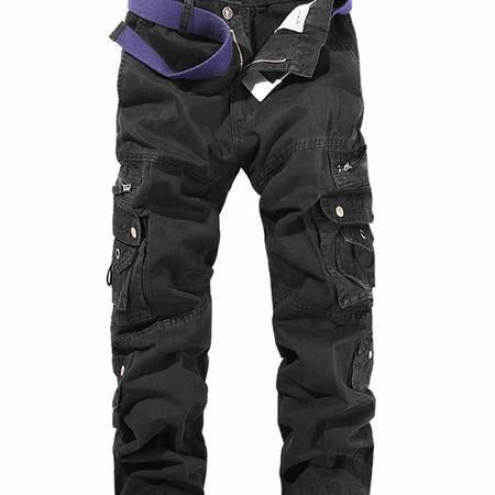 MSSEFN 欧美版多口袋水洗 热卖 大码工装裤 五色入